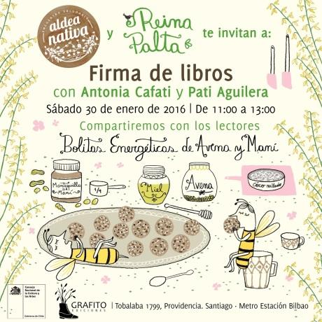 Invitación Aldea Nativa_libro Reina Palta